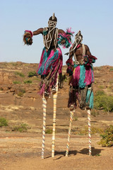 Dogon dancers on stelts