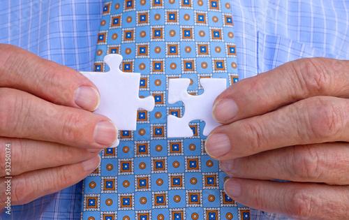 Geschäftsmann mit Puzzle - Businessman Jigsaw