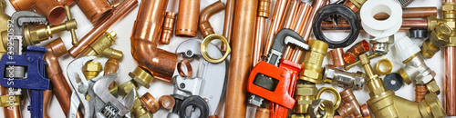 Leinwandbild Motiv plumbers bits