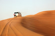 Dune bashing in the desert near Dubai