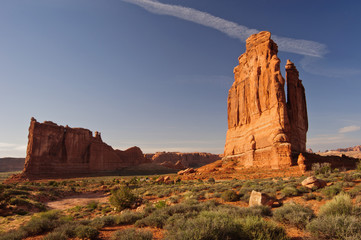 The iconic Organ. Park Avenue, Arches National Park