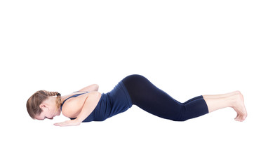 Fifth step of Yoga surya namaskar Ashtangasana