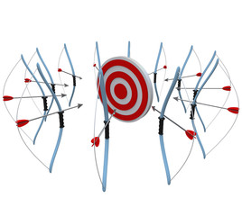 Many Bows and Arrows Aiming at One Target in Competition