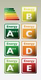 energy effiency label electro - illustration poster