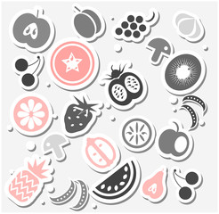 Various Fruits and Vegetables sticker or background