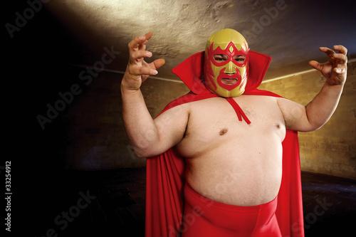 Luchador posing