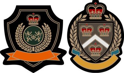 decorative royal emblem badge