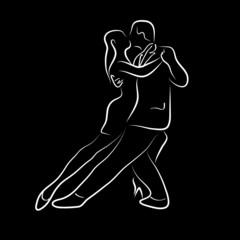 Logo tango ballet # Vector