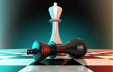 White king defeating black king