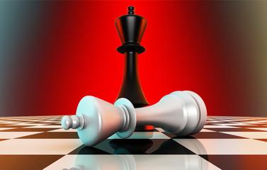 Black king defeating white king
