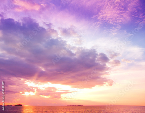 Landscape Sunrise Background