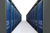 3d servers  datacenter poster