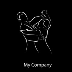 Logo waltz ballet # Vector