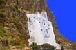 Obrazy na płótnie, fototapety, zdjęcia, fotoobrazy drukowane : grèce; cyclades; amorgos : monastère de chozoviotissa