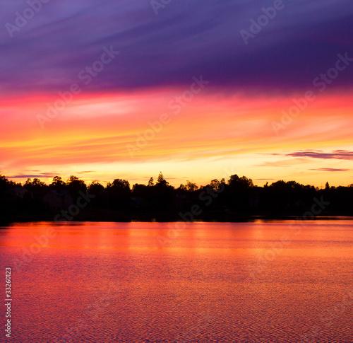 Poster Oranje eclat Horizon Outdoor Cloud