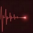 Abstract heart beats cardiogram