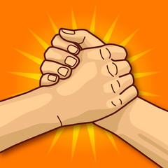 Hand orange 10