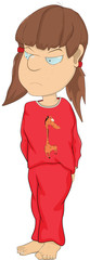 The girl in a pajamas. Cartoon