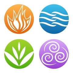 Symbols of four elements