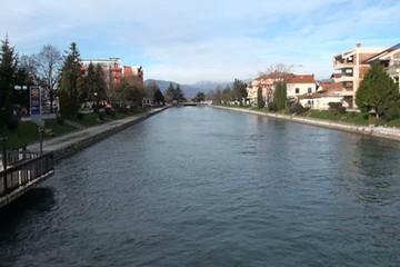river drim lake ohrid, macedonia