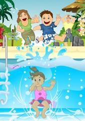 Bambini scatenati in vacanza