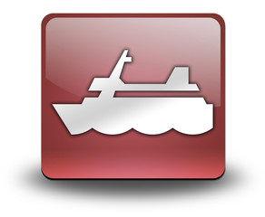 "Red 3D Effect Icon ""Cruise Liner"""