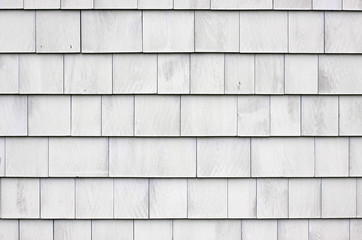 Whitewashed shingle siding