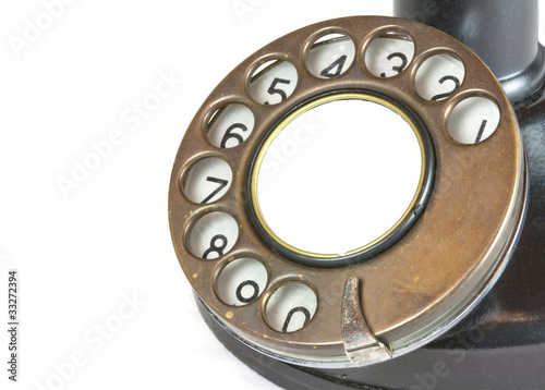 Dial from Antique Candlestick Telephone