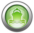 "Green glossy 3D effect button ""Ship / Water Transportation"""