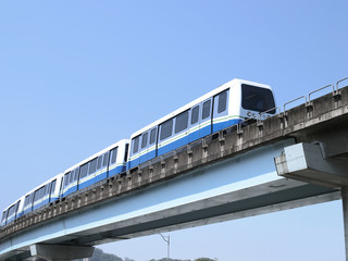 Mass rapid transit on viaduct