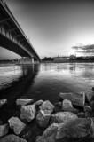 Fototapety Warsaw panorama with bridge