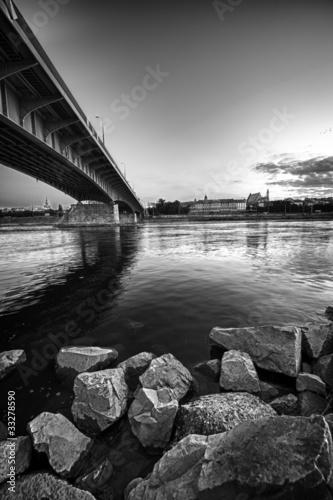 Zdjęcia na płótnie, fototapety, obrazy : Warsaw panorama with bridge