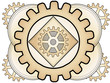 Steampunk Abstract Gear Ornament Logo