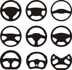 Силуэты рулевых колес