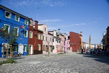 Street in Burano Island