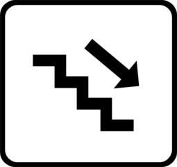 Treppe runter weiß