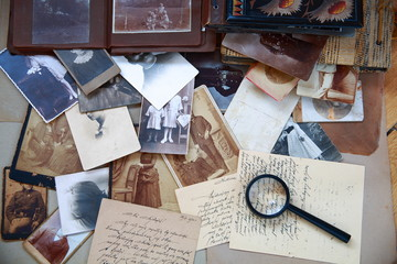 Old photos, letters and albums