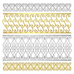 Fence damask abstract artistic pattern