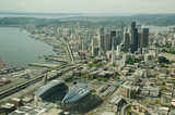 Downtown and Stadium Aerial