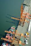 Ship at Dock - Aerial