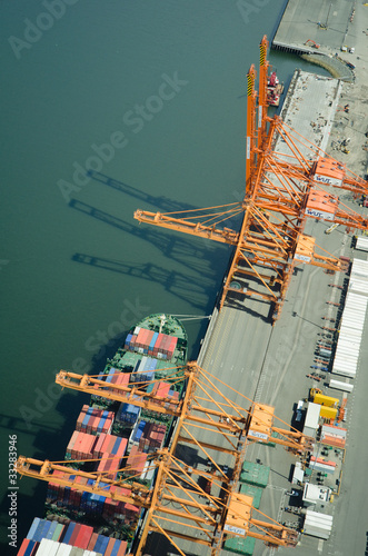 Ship at Dock - Aerial