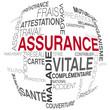 vecteur, mots sur le thème de l'assurance