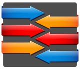 BLOCK ARROWS (flowchart connectors banners web buttons shapes) poster