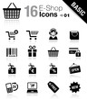 Basic - E-shop icons