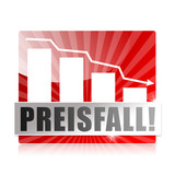 Preisfall! Button, Icon