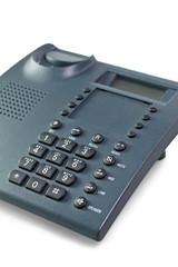 Dark gray telephone