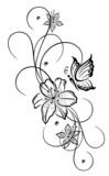 vektor lilien lilie ranke blumen bl ten flora filigran. Black Bedroom Furniture Sets. Home Design Ideas