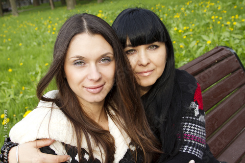 canvas print picture Mother and Daughter