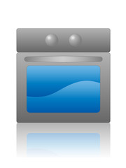 Oven Hob Icon (electrical household appliances kitchen vector)