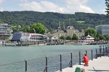 Hafen von Bregenz am Bodensee